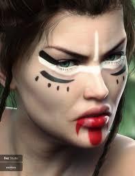 warrior make up for genesis 8 female