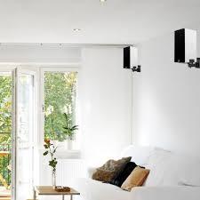 pair of ra bookshelf speaker wall