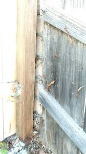 Fence To Fence Post Gap Fix A Leaning Fence Home Improvement Stack Exchange