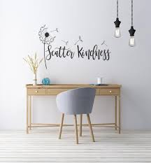 Scatter Kindness Vinyl Decal Inspirational Wall Etsy