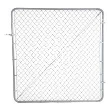 6 Ft H X 6 Ft W Galvanized Steel Chain Link Fence Gate In The Chain Link Fence Gates Department At Lowes Com