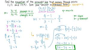 linear equations in standard form