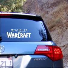 World Of Warcraft Logo Wow Vinyl Decal Sticker Texas Die Cuts