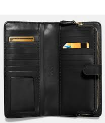 coach classic skinny leather wallet