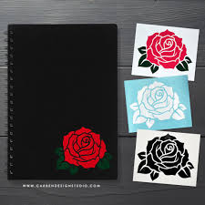 Rose Vinyl Decal Available In 6 Colors Carben Design Studio