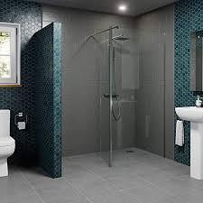 wet room shower screen return panel