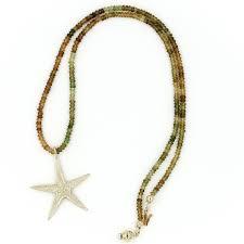 starfish pendant necklace 14k gold