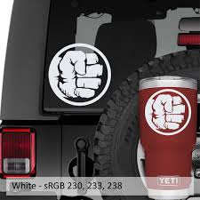 Incredible Hulk Fist Logo Vinyl Decal Jeep Window Decal