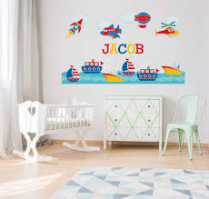 Air And Sea Adventure Nursery Wall Decals Yendo Print