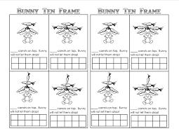 easter bunny theme unit printables