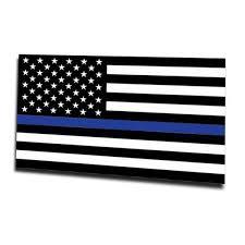 Magnet Thin Blue Line American Flag Thin Blue Line Usa