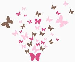 Amazon Com Butterfly Wall Decals Beautiful Girls Wall Stickers Wall Art Vinyl Stickers For Bedroom Peel And Stick Kids Room Decor Nursery Toddler Teen Decorations Playroom Birthday Gift 2 Pinks Brown Home Kitchen
