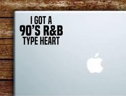 90s Rnb Type Heart Laptop Wall Decal Sticker Vinyl Art Quote Macbook A Boop Decals