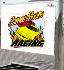 Racing Trailer Decals Large Stickers For Race Haulers