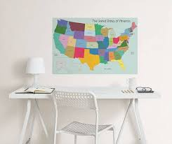 Usa Map Coloring Wall Decal Window Film World
