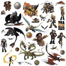 How To Train Your Dragon 31 Big Wall Decals Toothless Hiccup Astrid Room Sticker How Train Your Dragon How To Train Your Dragon Room Stickers