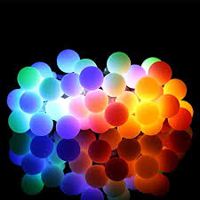 Ball Fairy Lights Warm White And Multi Color Garden Party Fence Christmas Tree Decoration Home Wedding Omgai 17ft 60 Led Waterproof Color Changing Globe String Lights For Outdoor Patio Mosulspace Org