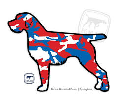 German Wirehaired Pointer Decal Fowl Dog