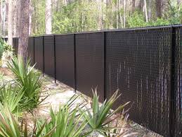 How Chain Link Fence Slats Beautify Your Garden Fence Design Charming Garden Fence With Chain Link Fence Slats Black Chain Link Fence Fence Design Fence Slats