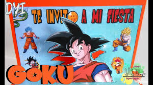 Invitacion De Son Goku De Dragon Ball Diy Invitacion Infantil