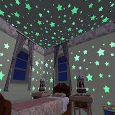 100pcs Wall Stickers Glow In The Dark Baby Kids Bedroom Home Decor Color Stars Luminous Fluorescent Wall Stickers Decal Wish