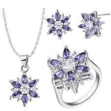 pendant necklace earrings ring 925