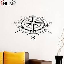 Compass Wall Stickers Nautical Home Decor Creative Vinyl Art Murals Re