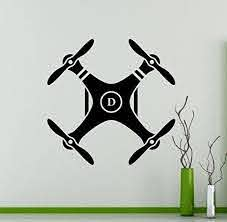 Drone Wall Vinyl Decal Air Quadcopter Wall Sticker Aircraft Home Wall Art Decor Ideas Interior Removable Kids Kid Room Decor Kids Room Design Vinyl Wall Decals
