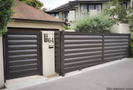 Paint Horizontal Fence Design New Modern House Gates And Fences Designs Front Gate Design Main Gate Design House Gate Design