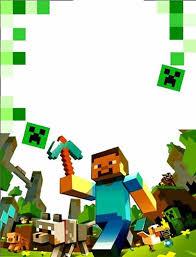 Cumpleanos Bryan Convites Minecraft Aniversario Minecraft