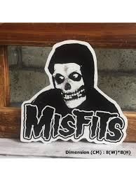 Misfits Skull Horror Rock Hipster Indy Graphic Art Waterproof Vinyl Decal Sticker Skullangel Unique Handmade Clothing Embroidered Patches Waterproof Stickers For Diy Projects