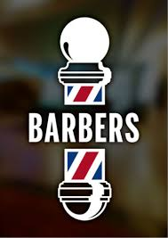 Business Signs Barbers Pole Large Barber Shop Window Sign Self Adhesive Vinyl Window Sticker Business Office Industrial Union Cs Co Jp