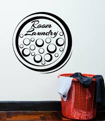 Vinyl Wall Decal Laundry Room Cleaning Service Bubble Decor Stickers M Wallstickers4you