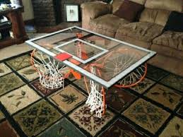 basketball coffee table man cave home