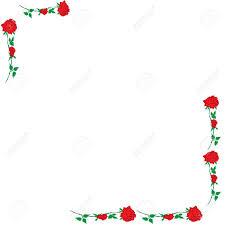Rosa Roja Formulario Marco De La Esquina En Un Fondo De Tarjetas