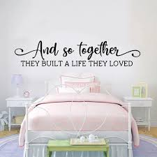 Large Wedding Quote Wall Sticker Bedroom Family Couple Together Love Life Quote Wall Decal Wedding Party Vinyl Decor Wall Stickers Aliexpress