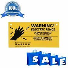 Yellow Electric Fence Warning Sign 3 Pack Set Outdoor Farms Animal Fencing Signs For Sale Online Ebay