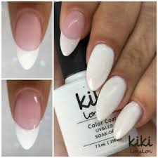 french manicure white pink