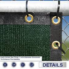 China Fence Privacy Screen Windscreen Shade Net With Dark Green Cover China Green Shade Net And Fence Privacy Screen Price
