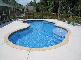 gemini modern freeform fiberglass pool