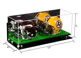 display cases 2 mini football helmet