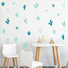 Cactus Wall Decals Woodland Tribal Cactus Wall Sticker For Kids Room Nursery Wall Decals Succulent Cacti Wall Tattoo Home Decor Wall Stickers Aliexpress