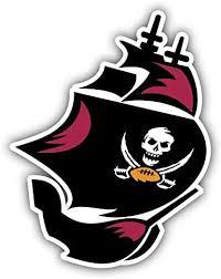 Hotprint Buccaneers Football Tampa Bay Logo Car Bumper Sticker Decal 4 X 5 Sports Outdoors Cjp Org In