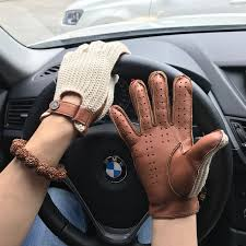 man goatskin gloves knitted leather