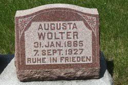 Augusta Becker Wolter (1865-1927) - Find A Grave Memorial