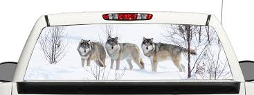 Buy Truck Suv Wolf Rear Window Graphic Decal Perforated Vinyl Wrap 14x53 In Cheap Price On Alibaba Com