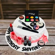 makeup kit birthday cake with name
