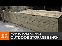 outdoor storage bench woodworking