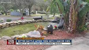Bitter battle over money, ashes between widow and family of Florida teen  who died from cancer