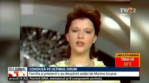 Video Marina Scupra, condusă pe ultimul drum